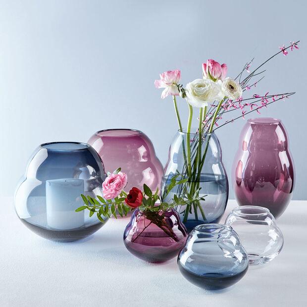 Jolie Mauve vase/support pour bougie chauffe-plat, , large