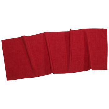 Textil Uni TREND Chemin de table rouge 50x140cm