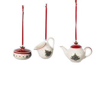 Toy's Delight Decoration Ornements, ensemble à café, 3 pièces 6,3cm