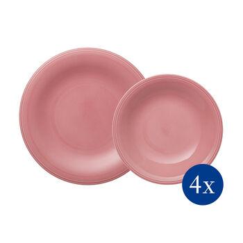 Color Loop Rose service de table, rose, 8pièces