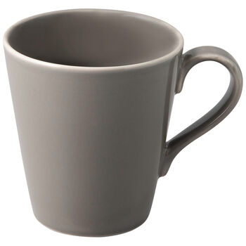 Organic Taupe mug à anse, taupe, 12,5x9x10cm