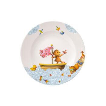 Happy as a Bear Assiette plate pour enfants 21,5x21,5x1,5cm