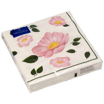 Serviettes en papier Wild Rose Serviette papier, 20pièces, 33x33cm