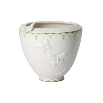 Colourful Spring vase large, blanc/vert