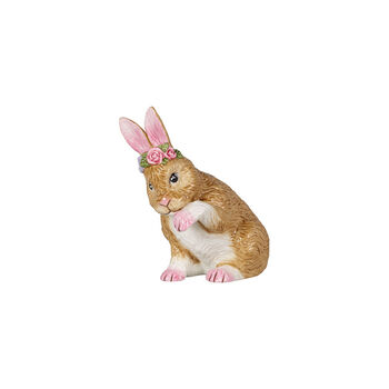 Easter Bunnies Lapin ptit, faisant toil. av. cour. flrs 9x5,5x10cm