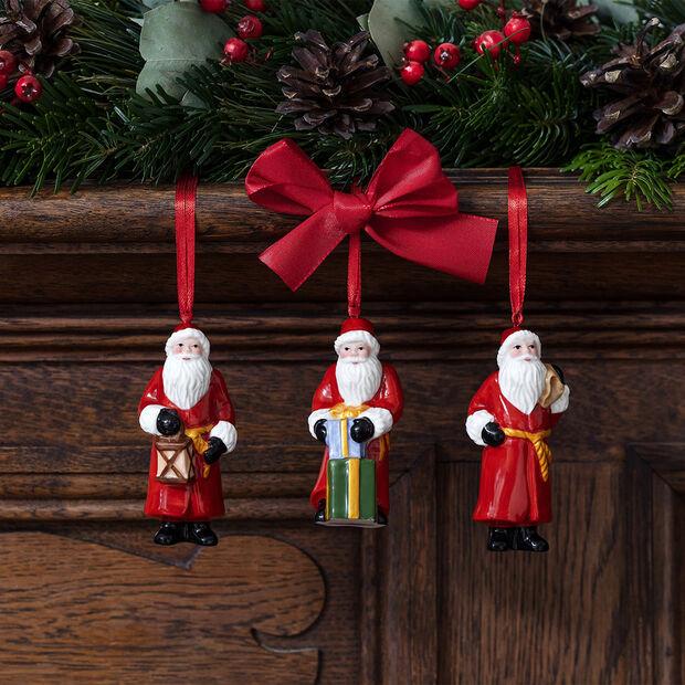 Nostalgic Ornaments ensemble d'ornements Père Noël, 8x3,5cm, 3pièces, , large