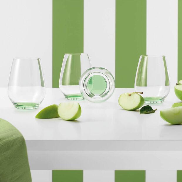 Colourful Life Green Apple ensemble de verres à cocktail/eau 4pièces, , large