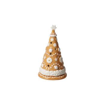 Winter Bakery Decoration petit sapin de Noël en pain d'épices, marron/blanc, 8x8x15cm