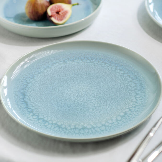 Crafted Blueberry assiette plate, turquoise, 26cm, , large