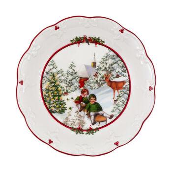 Toy's Fantasy grande coupe promenade en traîneau, multicolore/rouge/blanc, 24,5x24,5x4cm