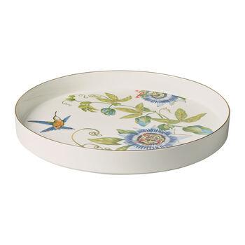 Amazonia coupe à servir et décorative, diamètre 33cm, profondeur 4cm, blanc/multicolore