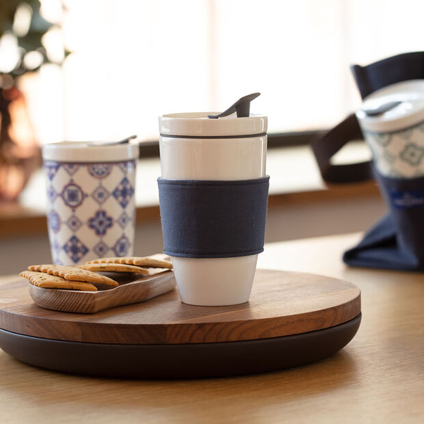 Mug à café To Go, 350 ml, blanc, , large