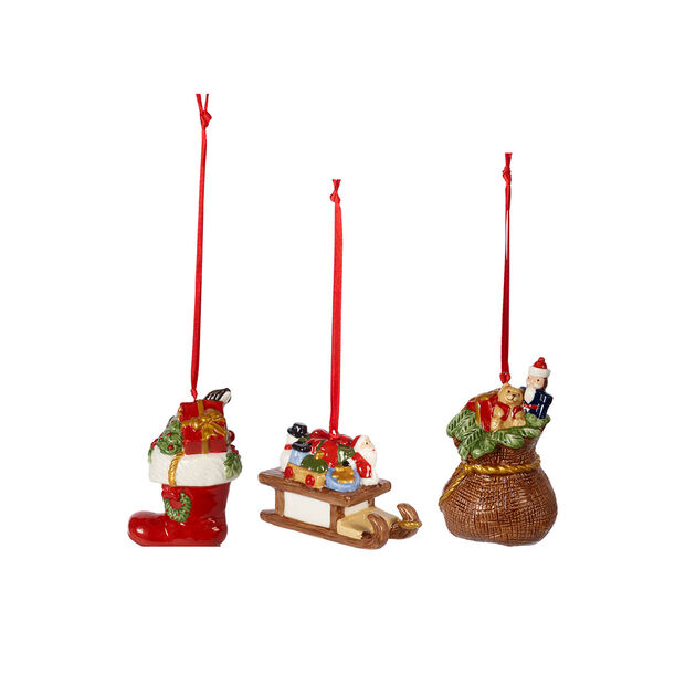 Nostalgic Ornaments Ornements cadeaux, ensemble 3 pièces 6,3cm, , large