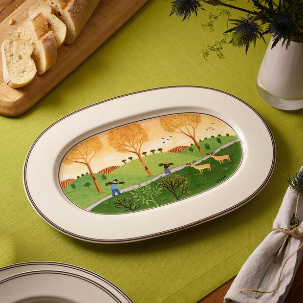 Design Naif plat ovale 34cm, , large