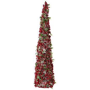 Winter Collage Accessoires arbre orné de baies rougesL, 72cm
