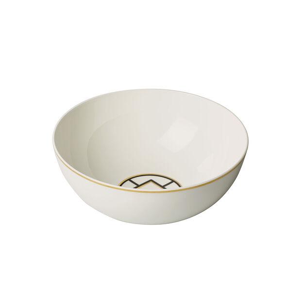 MetroChic plat creux rond, diamètre 23cm, blanc-noir-or, , large