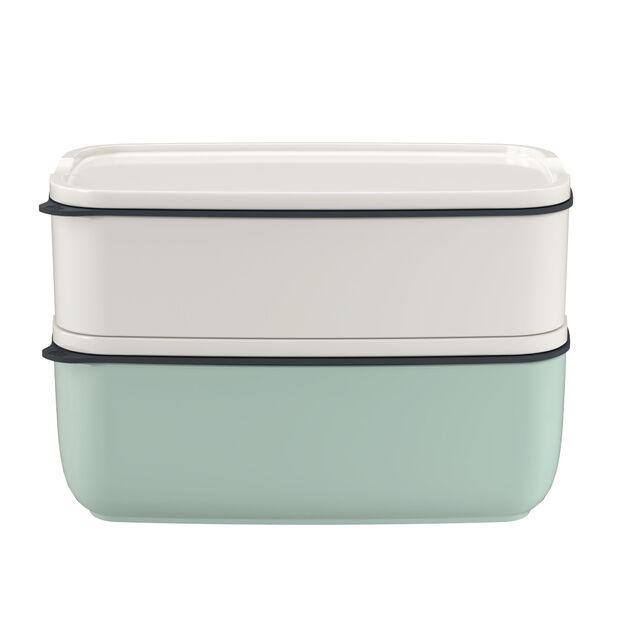 ToGo&ToStay ensemble de boîtes à repas, 2pièces, carrées, blanc/vert menthe, , large