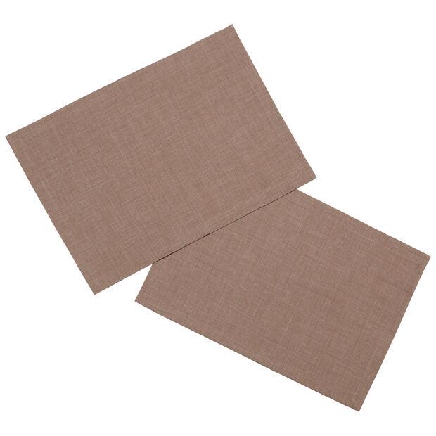 Textil Uni TREND Set de table taupe S2 35x50cm, , large