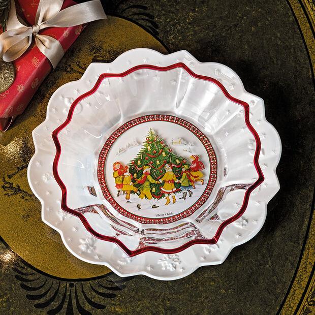 Christmas Glass Accessories coupe danse autour du sapin, transparente/multicolore, 25cm, 850ml, , large