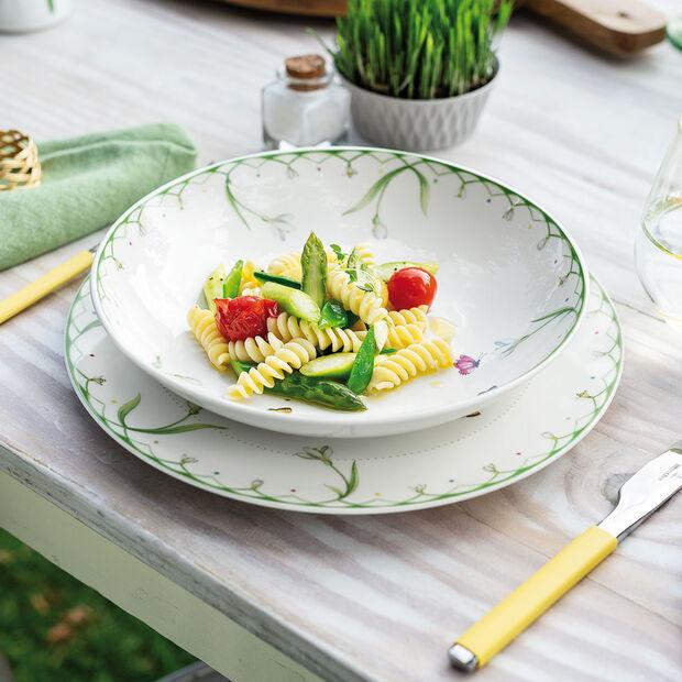 Colourful Spring plat creux, 1,1l, blanc/vert, , large