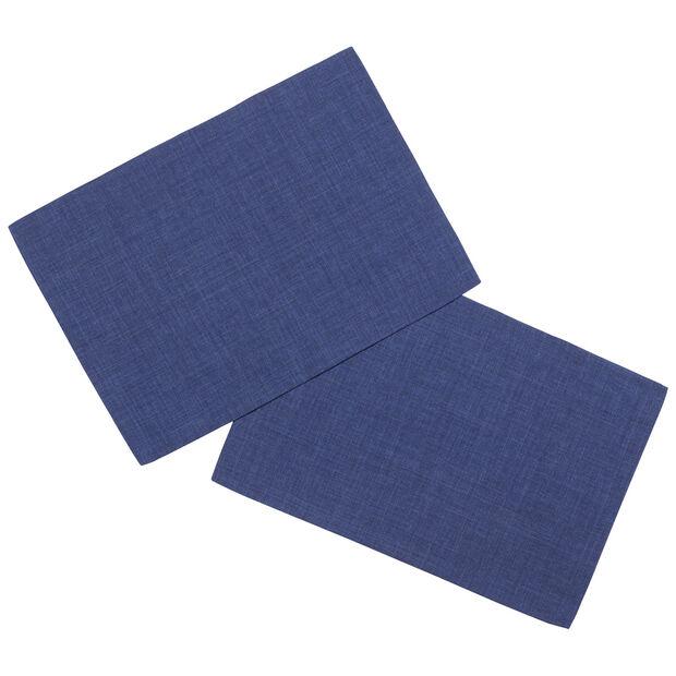 Textil Uni TREND Set de table bleu fon.S2 35x50cm, , large