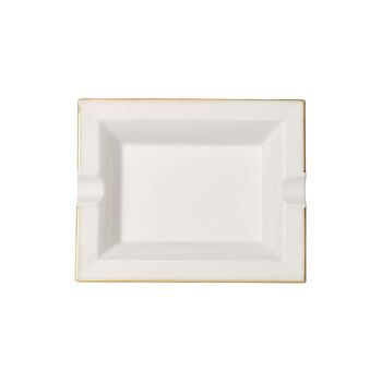 Anmut Gold cendrier, 17x21cm, blanc/or