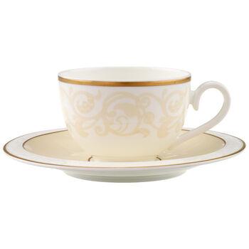 Ivoire Tasse à café/thé avec soucoupe 2pcs