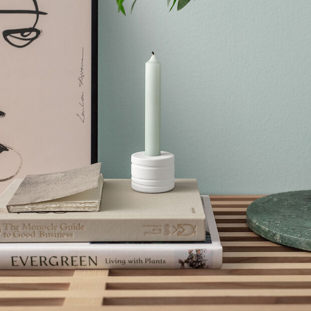 it's my home bougeoir Leaf, 6x5cm, blanc, , large