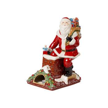Christmas Toy's Memory Père Noël sur le toit, rouge/multicolore, 23,5x17x32cm