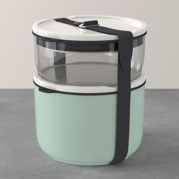 ToGo&ToStay ensemble de boîtes à repas, 2pièces, verre, gris/vert menthe, , large
