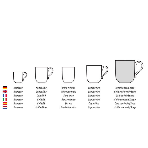 Caffè Club Uni Oak tasse à café au lait, , large