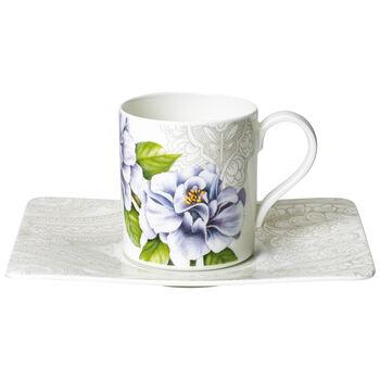 Quinsai Garden Tasse à café avec soucoupe 2pcs