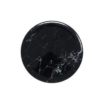 Marmory assiette à dessert noire 21x21x1,5cm