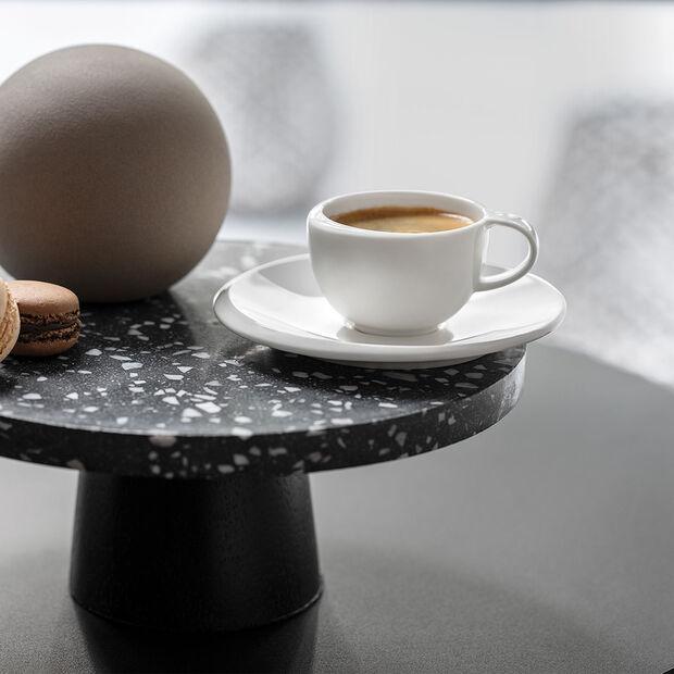 NewMoon sous-tasse pour tasse à expresso, blanche, , large