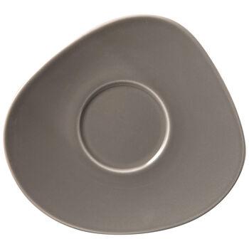 Organic Taupe sous-tasse à café, taupe, 17,5x16x2cm