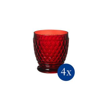 Boston coloured Gobelet red, Set 4 pcs