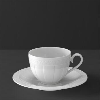 White Pearl Tasse à café/thé avec soucoupe 2pcs