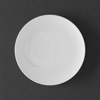 MetroChic blanc Soucoupe tasse à café 18,5x18,5x2cm