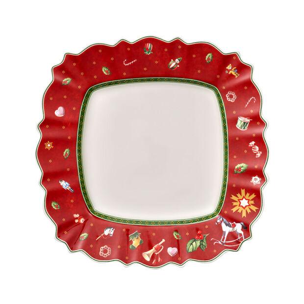 Toy's Delight assiette plate carrée, rouge/multicolore, 28x28cm, , large