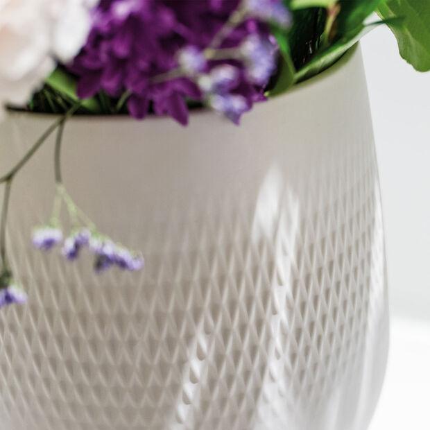 Manufacture Collier blanc Vase Carré petit 12,5x12,5x14cm, , large
