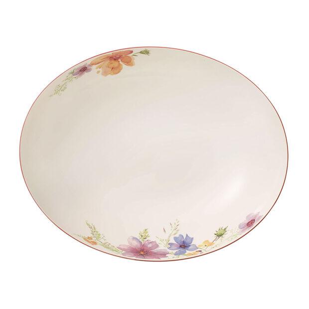 Mariefleur Basic plat creux à servir ovale 32cm, , large