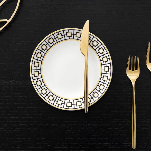 MetroChic assiette à pain, blanc-noir-or, , large