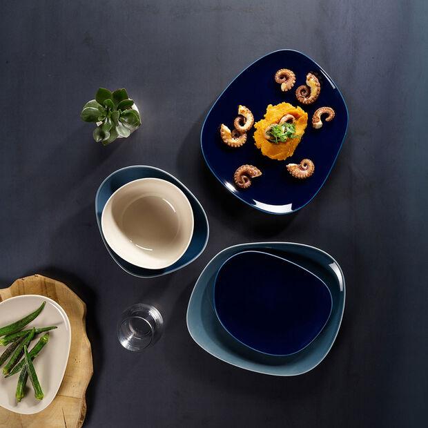 Organic Dark Blue assiette plate 28x24x3cm, , large