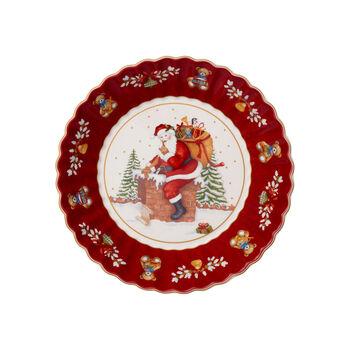 Toy's Fantasy grande coupe Père Noël sur le toit, rouge/multicolore, 25x25x5cm
