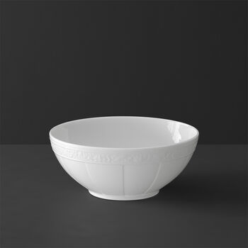 White Pearl plat creux rond petit modèle