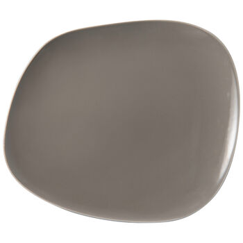 Organic Taupe assiette plate, taupe, 28x24x3cm