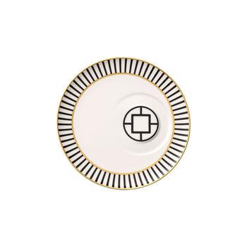 MetroChic sous-tasse à thé, diamètre 18,5cm, blanc-noir-or