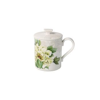Quinsai Garden Gifts mug à café avec couvercle 11,5x8,5x11cm