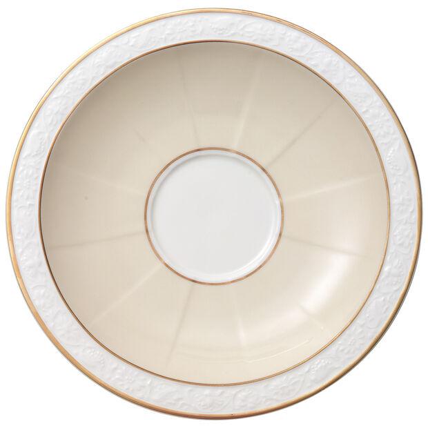 Ivoire Soucoupe tasse petit-déjeuner/bouillon 18cm, , large