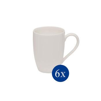 vivo | Villeroy & Boch Group Basic White mug à anse, 6pièces, EC